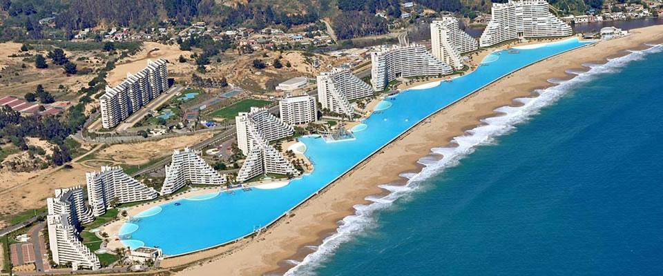 Maior piscina do mundo: San Alfonso del Mar