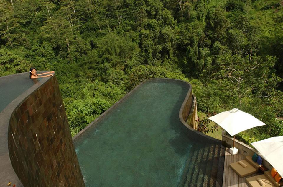 Ubud Hanging Gardens em Bali.